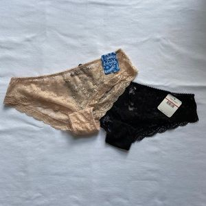 2 Pairs of Free People Lace Hipster Briefs-XS-NWT